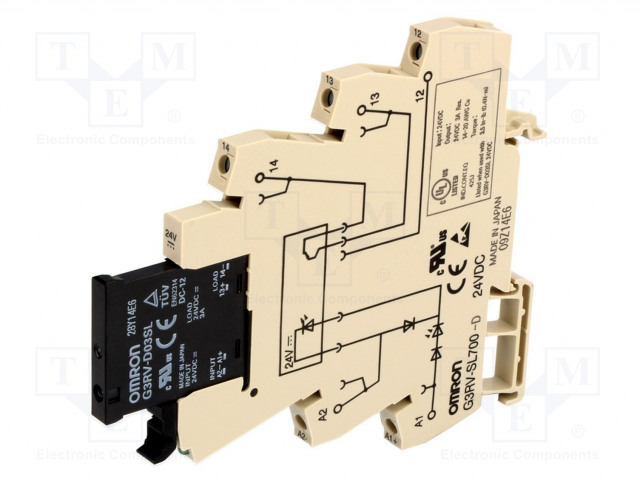 G3RV-SL700D/DC24_Relay: interface; SPST-NO; Ucoil:24VDC; 3A; MOSFET; 3A/24VDC