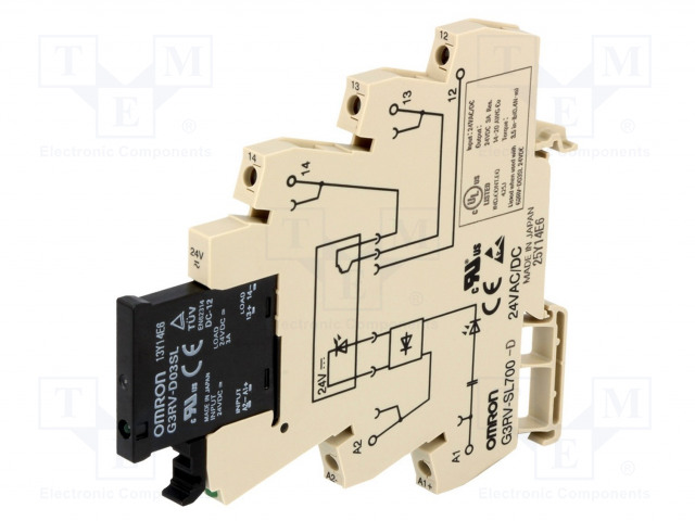 G3RV-SL700D-24AC/DC_Relay: interface; SPST-NO; Ucoil:24VDC; Ucoil:24VAC; 3A; MOSFET