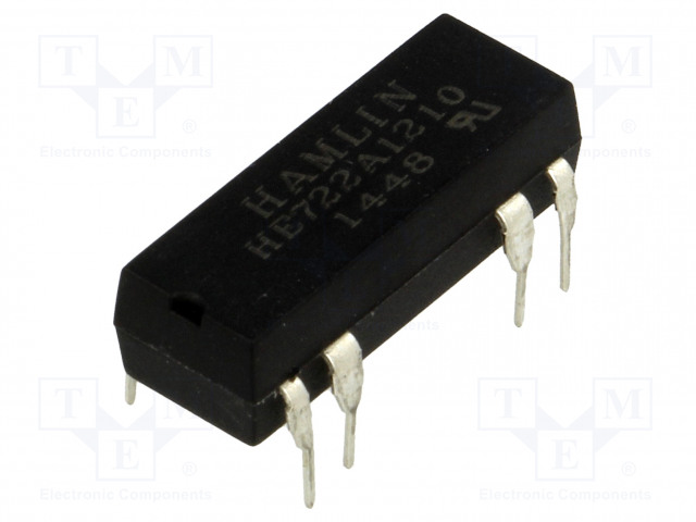 HE722A1210_Relay: reed; DPST-NO; Ucoil:12VDC; max.200VDC; Rcoil:500Ω; 288mW
