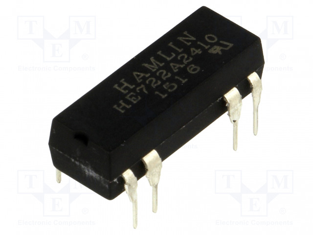 HE722A2410_Relay: reed; DPST-NO; Ucoil:24VDC; max.200VDC; Rcoil:2150Ω; 268mW