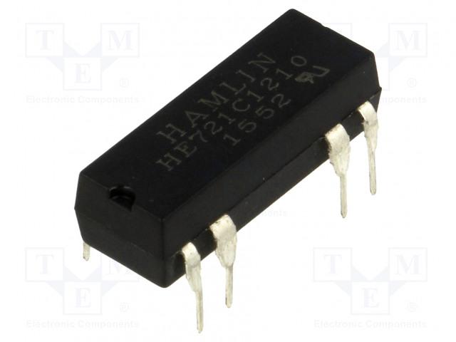 HE721C1210_Relay: reed; SPDT; Ucoil:12VDC; max.175VDC; Rcoil:500Ω; 288mW; PCB