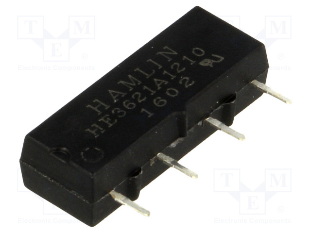 HE3621A1210_Relay: reed; SPST-NO; Ucoil:12VDC; 500mA; max.200VDC; 10W; PCB; SIL