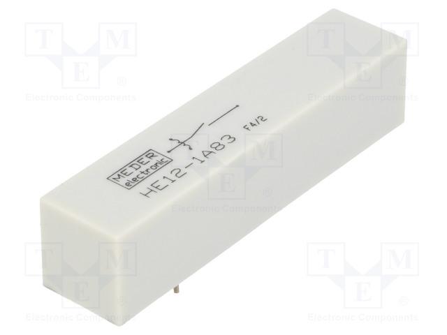 HE12-1A83_Relay: reed; SPST-NO; Ucoil:12VDC; 5A; max.7.5kVDC; max.7.5kVAC