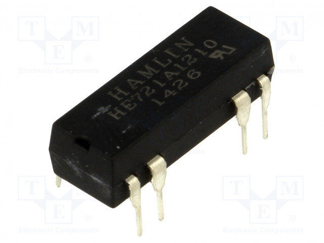 HE721A1210_Relay: reed; SPST-NO; Ucoil:12VDC; max.200VDC; Rcoil:1000Ω; 144mW