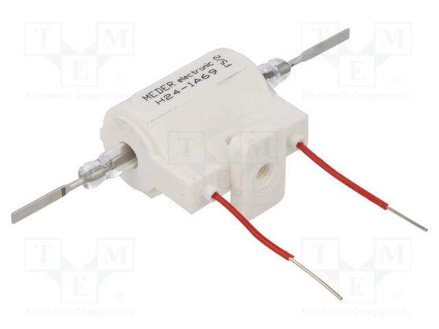 H24-1A69_Relay: reed; SPST-NO; Ucoil:24VDC; 5A; max.10kVDC; max.10kVAC; 50W