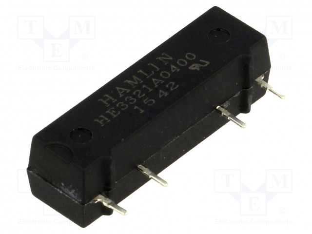 HE3321A0400_Relay: reed; SPST-NO; Ucoil:5VDC; 500mA; max.200VDC; 10W; PCB; SIL