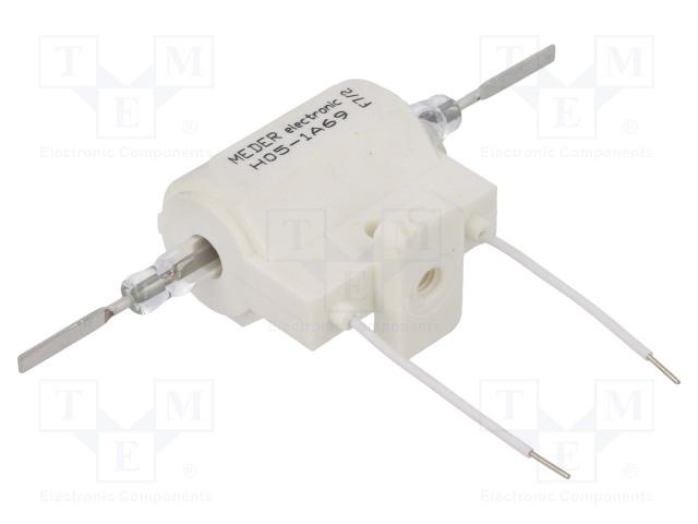 H05-1A69_Relay: reed; SPST-NO; Ucoil:5VDC; 5A; max.10kVDC; max.10kVAC; 50W