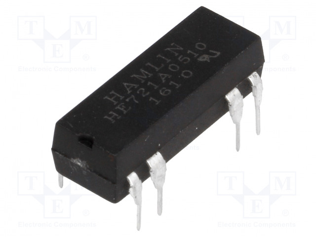 HE721A0510_Relay: reed; SPST-NO; Ucoil:5VDC; max.200VDC; Rcoil:500Ω; 50mW; PCB