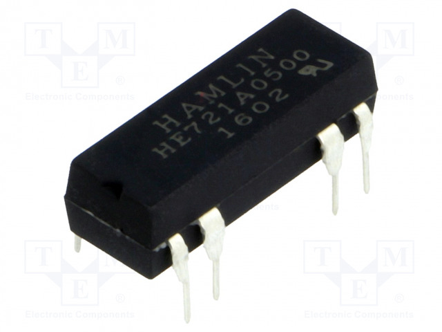 HE721A0500_Relay: reed; SPST-NO; Ucoil:5VDC; max.200VDC; Rcoil:500Ω; 50mW; PCB