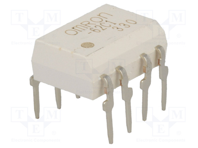 G3VM-62C1_Relay: solid state; DPST-NO; Icntrl:25mA; 500mA; max.60VAC; THT