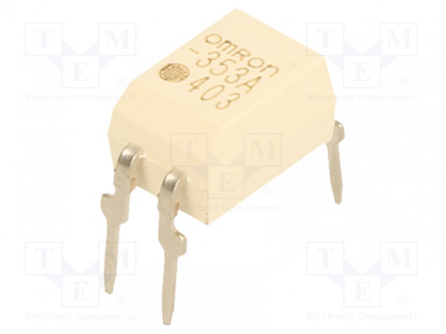 G3VM-353A_Relay: solid state; SPST-NC; Icntrl:25mA; 150mA; max.350VAC; THT