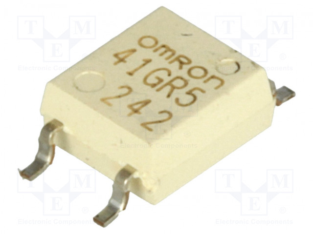 G3VM-41GR5_Relay: solid state; SPST-NO; Icntrl:30mA; 300mA; max.40VAC; SMT
