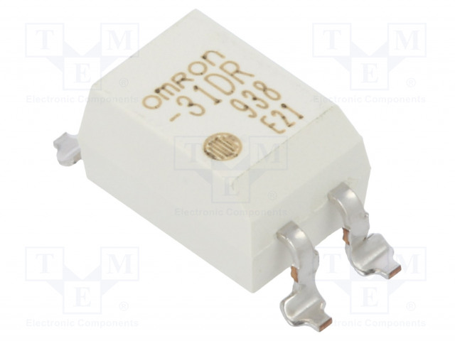 G3VM-31DR_Relay: solid state; SPST-NO; Icntrl:30mA; 4000mA; max.30VAC; SMT