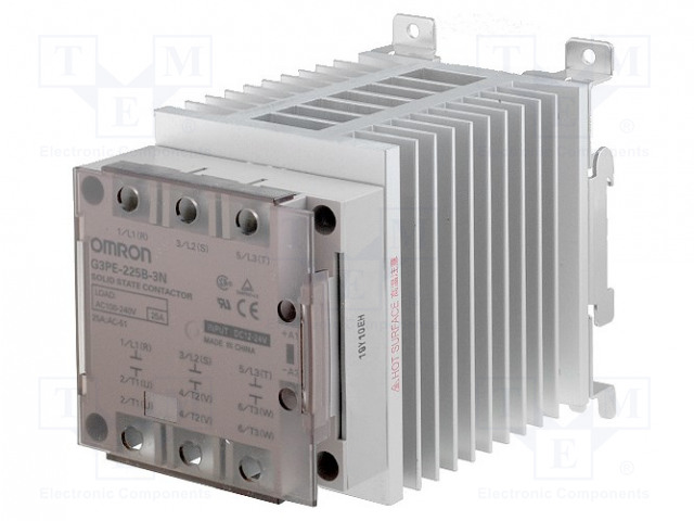 G3PE-225B-3N 12-24DC_Relay: solid state; Ucntrl:12÷24VDC; 25A; 100÷240VAC; 3-phase