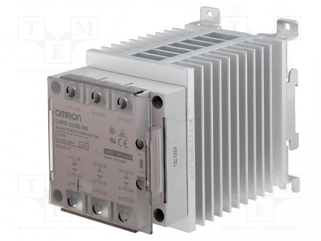 G3PE-525B-3N 12-24DC_Relay: solid state; Ucntrl:12÷24VDC; 25A; 200÷480VAC; 3-phase