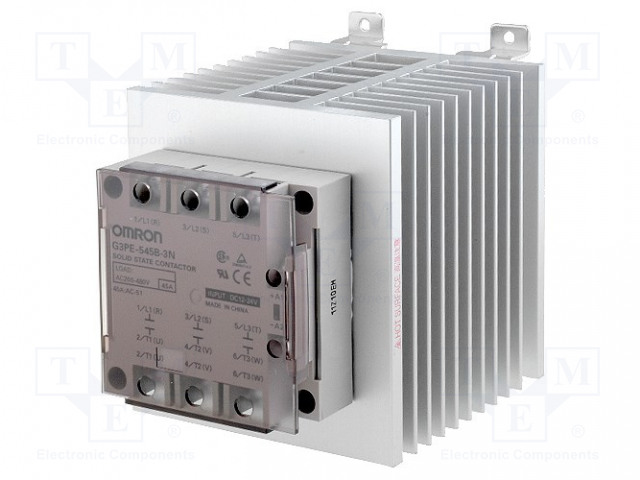 G3PE-545B-3N 12-24DC_Relay: solid state; Ucntrl:12÷24VDC; 45A; 200÷480VAC; 3-phase