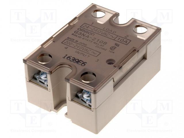 G3NA-210B-UTU 200-240AC_Relay: solid state; Ucntrl:200÷240VAC; 10A; 24÷240VAC; -30÷80°C