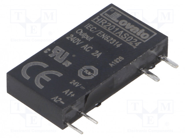 HR201AS024_Relay: solid state; Ucntrl:24VDC; 2A; 24÷280VAC; Variant:1-phase