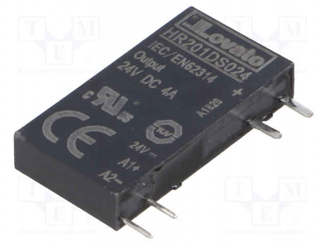 HR201DS024_Relay: solid state; Ucntrl:24VDC; 4A; 3÷28VDC; socket; Series: HR20