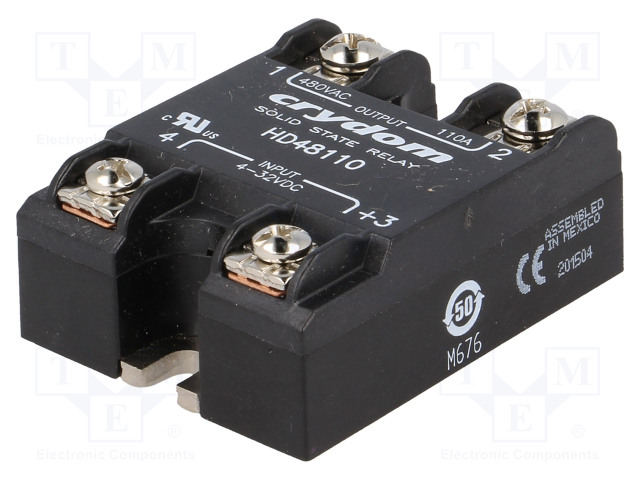 HD48110_Relay: solid state; Ucntrl:4÷32VDC; 110A; 48÷530VAC; -40÷80°C