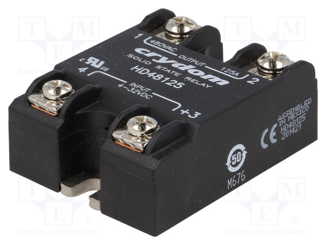 HD48125_Relay: solid state; Ucntrl:4÷32VDC; 125A; 48÷530VAC; -40÷80°C