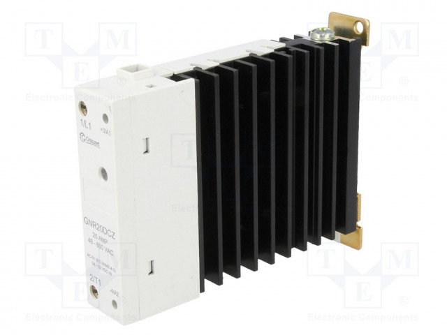 GNR20DCZ_Relay: solid state; Ucntrl:4÷32VDC; 20A; 48÷600VAC; DIN