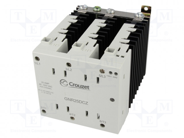 GNR25DCZ_Relay: solid state; Ucntrl:4÷32VDC; 25A; 48÷600VAC; 3-phase