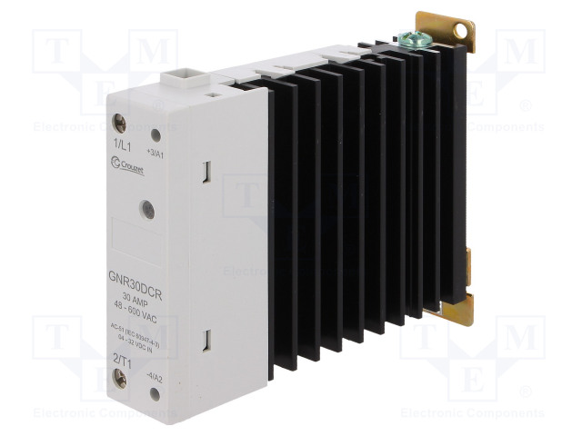 GNR30DCR_Relay: solid state; Ucntrl:4÷32VDC; 30A; 48÷600VAC; DIN