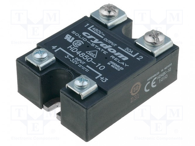 HD4850-10_Relay: solid state; Ucntrl:4÷32VDC; 50A; 48÷530VAC; -40÷80°C