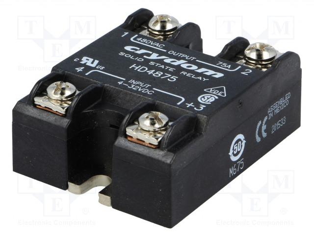 HD4875_Relay: solid state; Ucntrl:4÷32VDC; 75A; 48÷530VAC; -40÷80°C