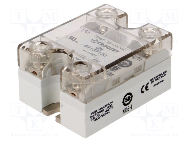 84137130_Relay: solid state; Ucntrl:4÷32VDC; 75A; 48÷660VAC
