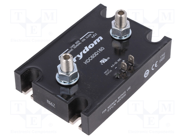 HDC60D160_Relay: solid state; Ucntrl:4.5÷32VDC; 160A; 7÷48VDC; screw type