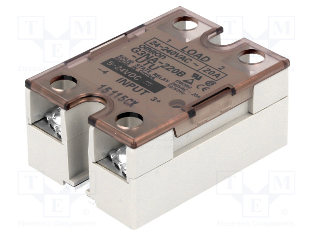 G3NA-220B-UTU 5-24DC_Relay: solid state; Ucntrl:5÷24VDC; 20A; 24÷240VAC; -30÷80°C