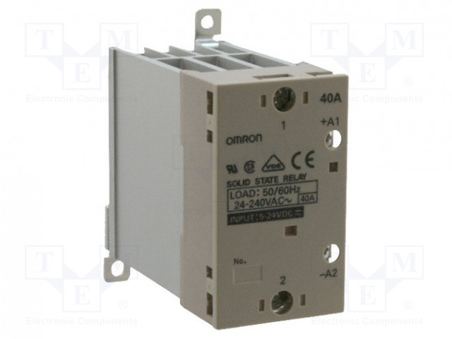 G3PA-240B-VD 5-24DC_Relay: solid state; Ucntrl:5÷24VDC; 40A; 24÷240VAC; DIN
