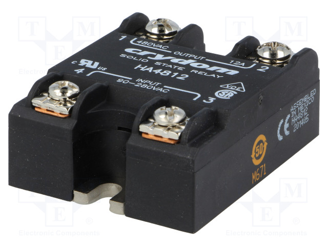 HD4890-10_Relay: solid state; Ucntrl:4÷32VDC; 90A; 48÷530VAC; -40÷80°C