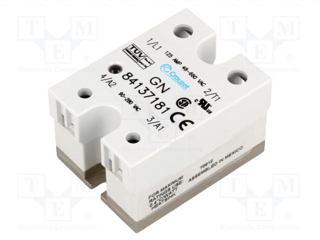 84137181_Relay: solid state; Ucntrl:90÷280VAC; 125A; 48÷660VAC