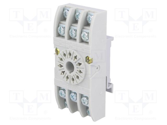 GZU11 592035_Socket; PIN:11; 10A; 250VAC; Mounting: DIN; Leads: screw terminals