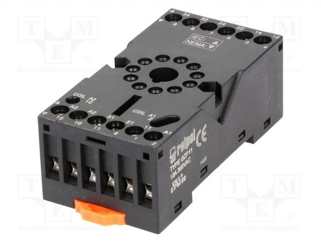 2613506_Socket; PIN:11; 10A; 250VAC; Mounting: DIN