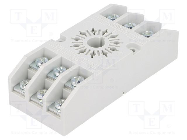 GZ11 592017_Socket; PIN:11; 10A; 250VAC; Mounting: on panel; Series: R15