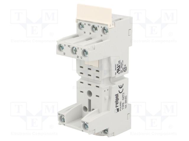 GZT3_Socket; PIN:11; 10A; 300VAC; Mounting: DIN