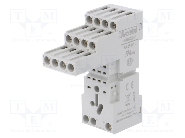 HR6XS41_Socket; PIN:14; 10A; 250VAC; Mounting: DIN; Series: HR60