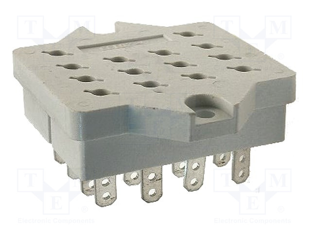 GOP-14_Socket; PIN:14; 10A; 250VAC; Mounting: PCB; Leads: for soldering