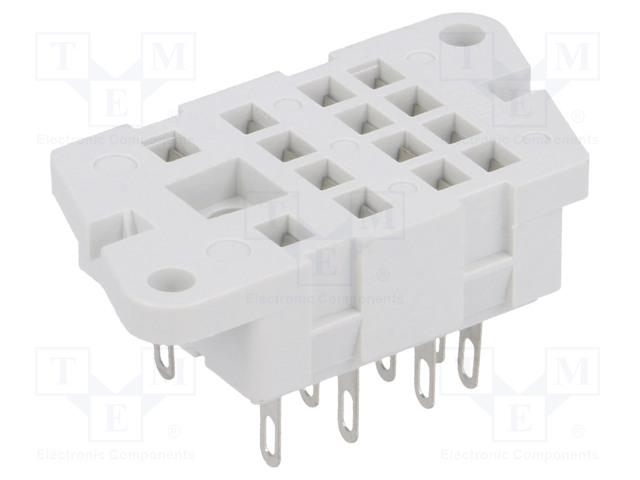 G4-01_Socket; PIN:14; 6A; 250VAC; Mounting: on panel; Series: R4