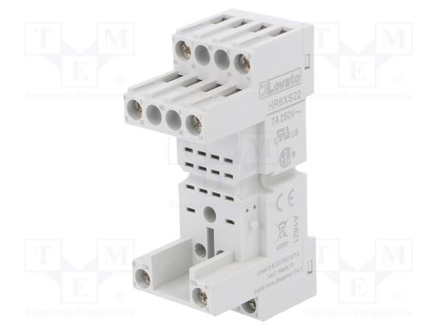 HR1XS024S_Socket; PIN:5; 10A; 250VAC; Mounting: DIN; Series: HR10