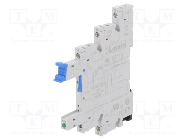 HR1XS110_Socket; PIN:5; 10A; 250VAC; Mounting: DIN; Series: HR10