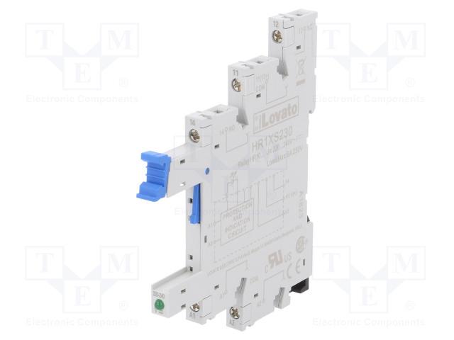 HR1XS230_Socket; PIN:5; 10A; 250VAC; Mounting: DIN; Series: HR10
