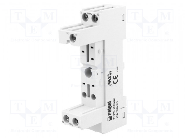 GZS92_Socket; PIN:5; 12A; 300VAC; Mounting: DIN