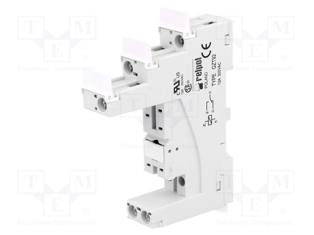 GZT92_Socket; PIN:5; 12A; 300VAC; Mounting: DIN