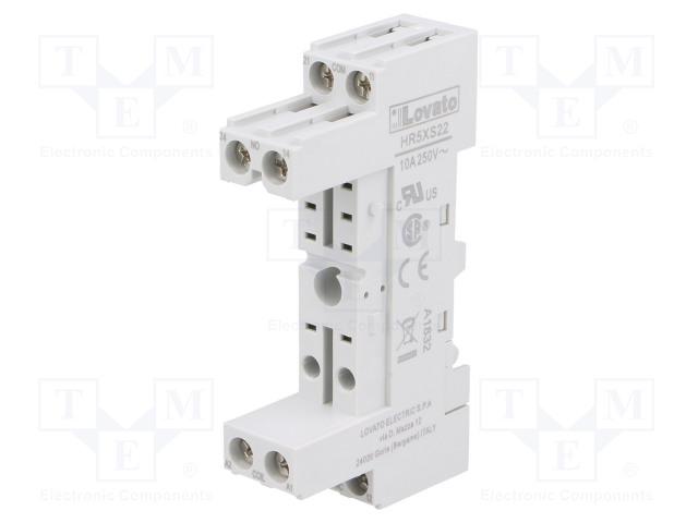 HR5XS22_Socket; PIN:8; 10A; 250VAC; Mounting: DIN; Series: HR30