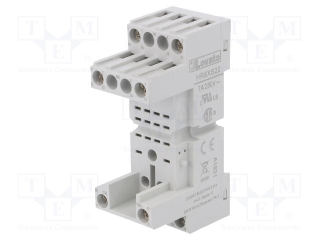 HR6XS22_Socket; PIN:8; 10A; 250VAC; Mounting: DIN; Series: HR60